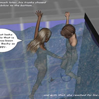 Guy fucks sis in a pool on 3d toon incest pictures