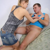 Hot daughter gets a creampie from her old father