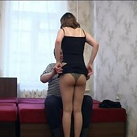 Young daughter seduces her dad