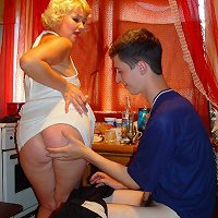 Drunk blonde mother and son porn pics