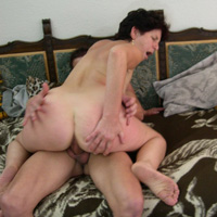 Mom son incest with lady feeling cock in her holes
